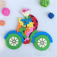 bicycle model number - jigsaw puzzle with letters and number The bicycle model d wooden puzzle for language learning education toys children puzzle