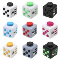 Wholesale DHL Stress Relief Stocking Stuffer Toys Fidget Cube Anxiety Attention Magic Fidget Fun Cubes