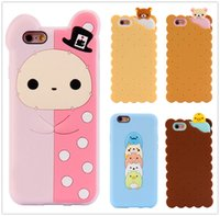 apple biscuits - Cartoon Case for iPhone s se s plus s plus Cute D Cartoon Biscuit Case Souple Silicon Cover for iphone
