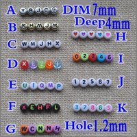 Wholesale Hot Round Flat Acrylic Letter Spacer Beads Charms Jewelry Craft DIY mm weight about g