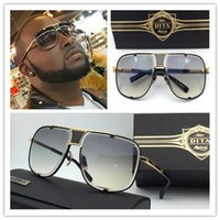 Wholesale 2017 new Dita Mach five sunglasses DRX top quality k gold plated metal frame unisex model man women dita eyewear