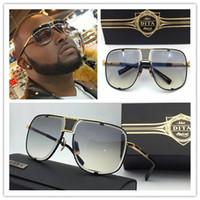 al por mayor estructura de metal gafas de sol-2017 nuevas gafas de sol del Mach cinco de Dita DRX 2087 el oro de calidad superior 18k plateó el envío libre eyewear de las mujeres modelo unisex del hombre del marco del metal
