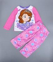 baby nightgown patterns - New winter girl baby pyjamas set Cartoon princess sofia pattern sleepwear brand kids Warm pajamas sets Sofia girls home clothing