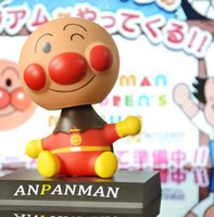 Wholesale Anpanman Baikinman The Car Shook Head Doll Car Decoration With Two Double Faced Adhesive PVC Model SWISSANT