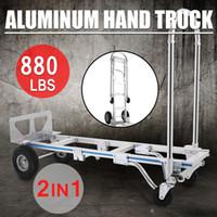 aluminum dolly - 2 in Aluminum Hand Truck Dolly Utility Cart Heavy Duty lb Capacity