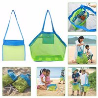 Fabric beach basket bag - S L SAND AWAY BEACH Baby Folding Baby Beach Mesh Bag Child Bath Toy Storage Bag Net Suction Cup Baskets Hanging Pouch Organizer