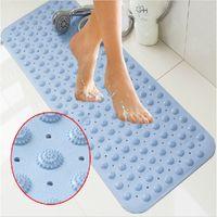 bathroom helpers - Useful cm New Non slip bath mat Massage With sucker PVC shower mat for bathroom toilet bathroom carpet rug bathroom Helper
