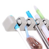 Wholesale S5Q Position Kitchen Wall Shelf Mounted Hanger Mop Brush Broom Storage Rack AAAGIU
