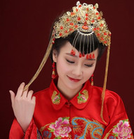 beautiful handmade jewelry - Beautiful new bride headdress red Chinese wedding hair accessories handmade