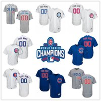 authentic cubs jerseys - Custom World Series Champions Patch Chicago Cubs Gray White Blue Authentic Stitched Personalized Baseball Jerseys Customized S XL