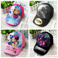 Wholesale 2016 Summer Frozen Baseball Cap Kids Cartoon Caps Hats Toy Hats Children Sofia cotton Baseball Cap