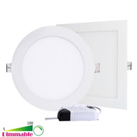 Wholesale Dimmable W W W W W W Round Square LED Recessed Ceiling Panel Light Downlights AC V