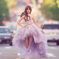 Wholesale Lavender Flower Girl Dresses Girls Ball Gown Prom Dress Children Pageant Dresses For Girls Glitz Junior Bridesmaid Dresses