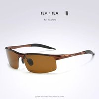 Wholesale Exemption from postage hd pervious to light men the new2016 high grade aluminum magnesium polarizing sunglasses cycling glasses