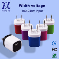 Wholesale US Wall Charger V ma A Universal Cell phone Slim Single USB AC Power Adapter for iphone