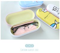 Wholesale Male and female students tin glasses boxes cute little pure and fresh and portable sun glasses myopia glasses lens receive a case