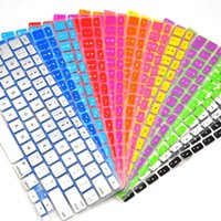 Wholesale Laptop Soft Silicone Colorful KeyBoard Case Protector Cover Skin For MacBook Pro Air Retina keypboard covers