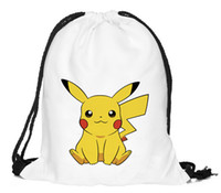 backpack tool bags - Poke Emoji Drawstring Backpack Pocket Shopping Bag Fashion Monster Storage Bag Poke Pikachu Organizer Baggu Poke Ball Gifts Sack Bags