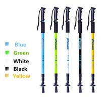 Wholesale mm Outdoor Tool Strong Aluminum Walking Stick Hiking Trekking Pole Portable Walking Canes Mountain climbing