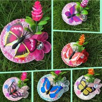 Wholesale 6 Mixed Color Children Straw Hat Hairpins Girls Hair Clips Support Drop Shipping