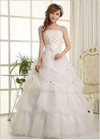 Wholesale 2016 new wedding dress wedding bride wedding white Korean Princess bra Qi fan has been upgraded white Qi a bandage