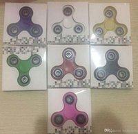 venda por atacado acrylic box-Fingertips Spiral Fingers Fidget Spinner EDC Spinner Mão Acrílico Plastic Fidget Brinquedo Toy Gyro Com Retail Box