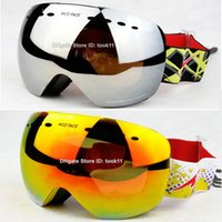best snowboard brands - Brand designer ski goggles motocross spherical skiing glasses best snow snowmobile masks day night vision snowboard googles gafas esqui New