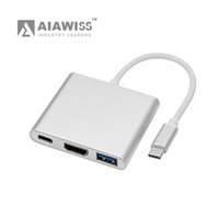 Wholesale AIAWISS USB C Digital AV Multiport Adapter USB Type C to HDMI K Converter USB3 Type C Male to USB3 Hub Adapter with Power Delivery