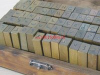 Wholesale Hot Number Letter Alphabet Wood stamp Set With Wooden Box Uppercase Lowercase Both have sets