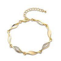 Wholesale occident gold drops of oil water waveform bracelets fashionable joker hot hot style elegant aristocratic wind romance inlay zircon bracelet