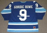 Wholesale Cheap custom retro GORDIE HOWE Houston Aeros WHA Vintage Jerseys Throwback Hockey Jersey