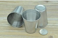 alcohol steel - Mini oz Stainless Steel Hip Flask Wine Cups Portable Outdoor Whisky Stoup Wine Pot Alcohol Cup