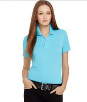 Wholesale classic casual Lapel T shirt Womens cotton shirts stylish women s slim embroidered shirt multi color selection