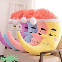 Wholesale Hold Pillow Puppet Plush The Moon A Variety Of Color Childrens Girls Birthday Soft Cute Creative Sleep Gifts Toy LHS28