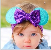 Cheap Headbands Children Christmas Heabands Best Cotton Dot baby bowknot headband