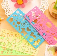 Wholesale Korea stationery candy color ruler oppssed drawing template