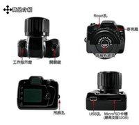 Wholesale Y2000 Spy Camera The Smallest camera Spy Mini camera Camcorders Cam Black Color