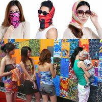 Wholesale Magic Bandanas Sunscreen Scarf Style Unisex Muffler Outdoor Ring Fashion Print Polyester Fashion Accessories Scarves for Adult