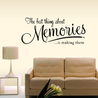 Wholesale The Memory Wall Quote Decal Removable Stickers Funny Decor Bedroom Sitting Room Vinyl Diy Home Art Gift