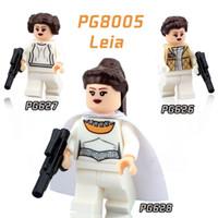 480pcs PG8005 Figurines Star Wars Princesse Lire Collection LEIA Briques Bocks DIY Action Jouets pour bébés