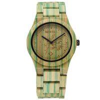 bamboo clock - Fashion Wooden Bamboo Watch Women Luxury Brand BEWELL Quartz Wooden Bamboo Watches Clock Wood Watch Women