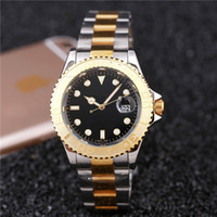 Wholesale relogio masculino mens watches Luxury wist fashion Black Dial With Calendar Bracklet Folding Clasp Master Male giftluxury Mens Watches