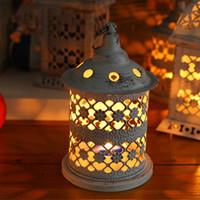 Wholesale YUMU Wooden Candle Holder for Christmas Decoration Candlestick Favor Vintage Décor Centerpieces DH ZT