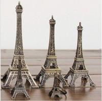 Wholesale Europern Style CM CM CM CM CM CM CM Black Paris Eiffel Tower Party Decoration Vintage Alloy Model Decor Craft Gift