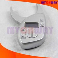 accurate hands - Mini Accurate Reliable Digital Body Fat Caliper Skin Fold Thickness mm inch Measurement Thickness Test Analyzer Home Use Weight Loss