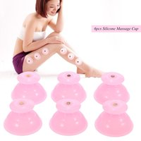 Wholesale 6pcs Silicone Massage Cupping Cup Facial Body Vacuum Cupping Cup Moisture Absorber Cupping Face Legs Arms Care Treatment