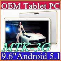 100X 9,6 pouces tablette PC MTK8382 MTK6592 Quad Android Android Android tablette 1GB 16GB 5mp IPS écran 800 * 1280 GPS 3G téléphone comprimés E-9PB