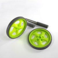 Wholesale Male five hole double abdominal wheel ABS wheel roller by abdominal abdominal fitness equipment