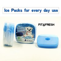Wholesale Camp Kitchen Fit Fresh Cool Coolers Slim Lunch Ice Packs Insulation bag lunch pack ice box cm