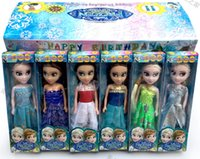 Wholesale For baby girls Dolls Accessories Dolls Elsa Anna princess Queen s birthday version of the latest children s toys animation